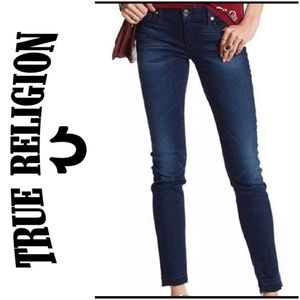 True Religion Casey Low Rise Super Skinny Jeans 25